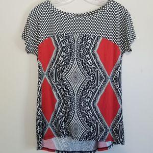 Weston Wear Black, White, Red& Blue Graphic Tee